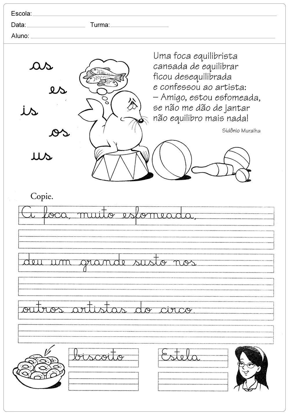Atividades Letra Cursiva Atividades Educativas De Com Imagens