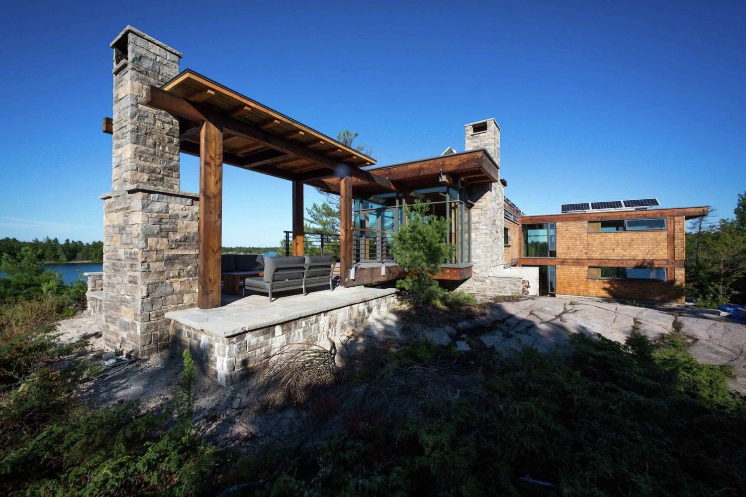 Remote Off The Grid Waterside Home with Gourmet Kitchen | Modern ...