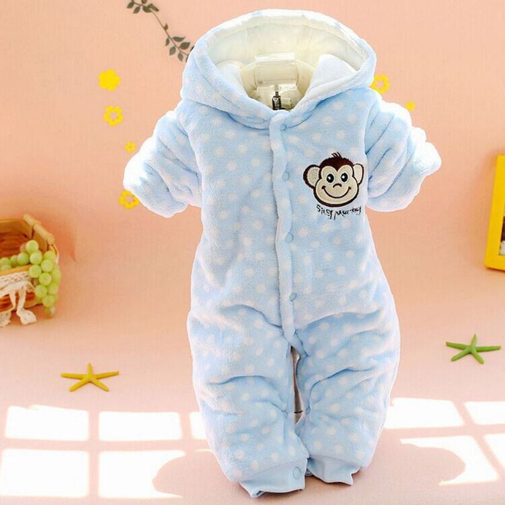 9a8de003dc8b Newborn Baby Winter Clothes Cotton Rompers Thicken Warm Baby Girl ...