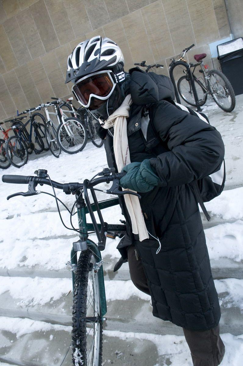 Bundle Up For A Brisk Winter Bike Ride Law School Winter Jackets Winter