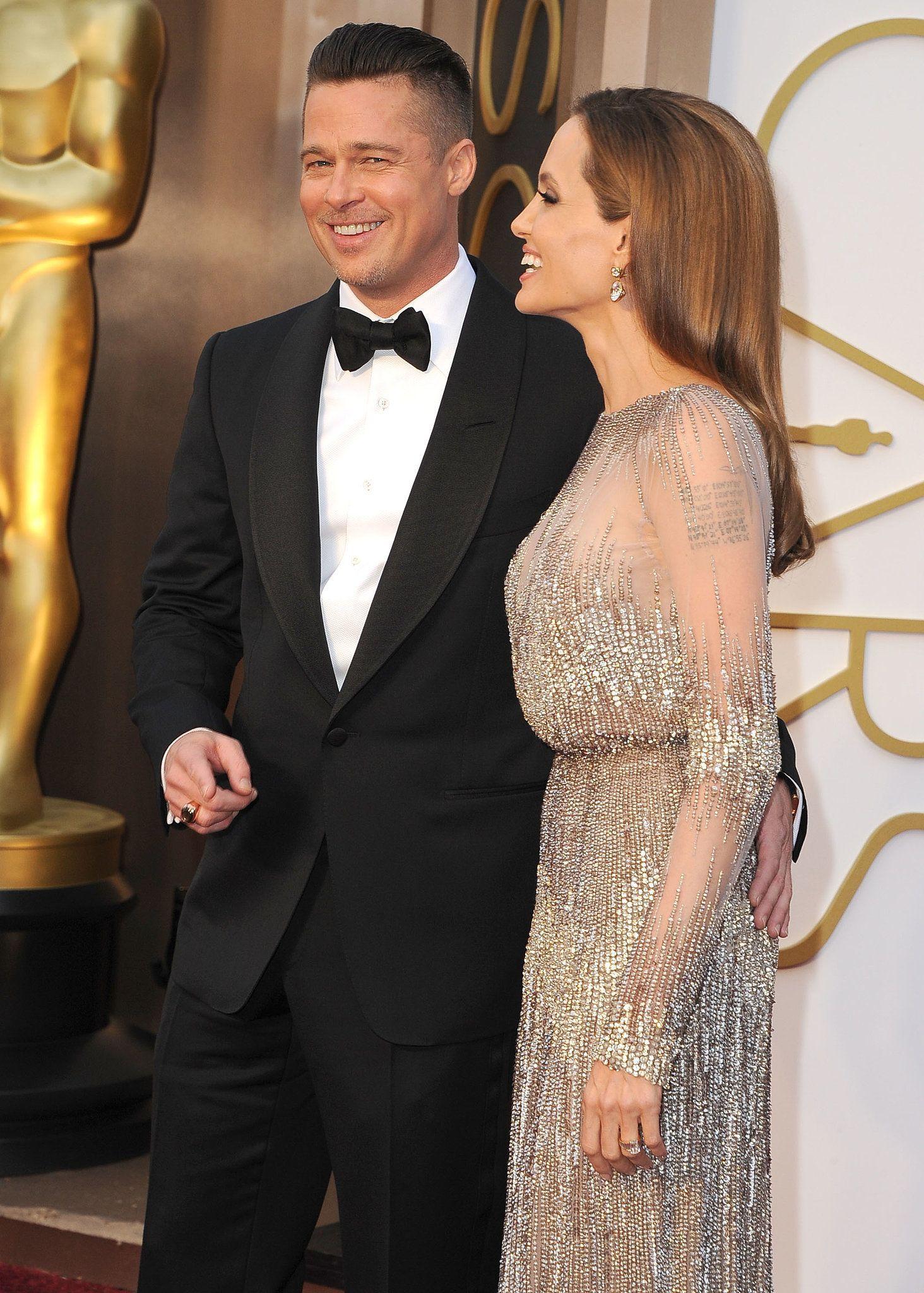 Angelina Jolie Gave Brad Pitt An Adoring Look On The Oscars Red