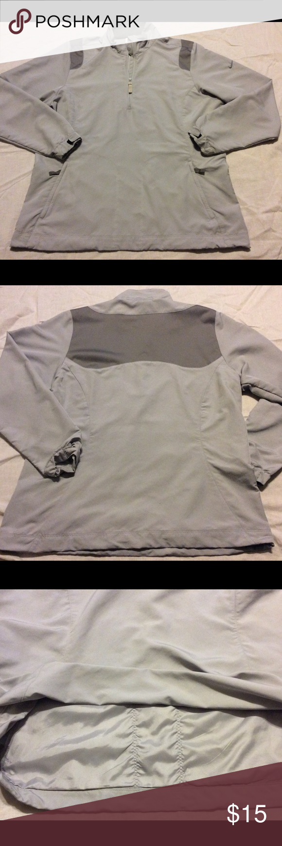 Men's Nike Dri-Fit Golf Shirt Gently worn, in very good condition, 1 flaw, tiny pulled thread on left front pocket, barely noticeable, will post extra pics upon request Nike Jackets & Coats Performance Jackets