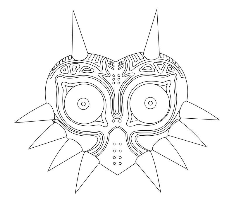 Zelda Majora S Mask Coloring Pages 43796 Jpg 800 710 Majoras Mask Coloring Pages Mask