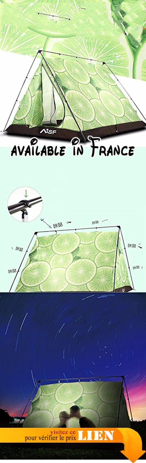 B075867VB6   zhudj Grand espace Tente Outdoor Camping amoureux plage  personnalité triangle double citron. Dimensions de la tente  2grandes  chambres… c7dd71dd6ebd