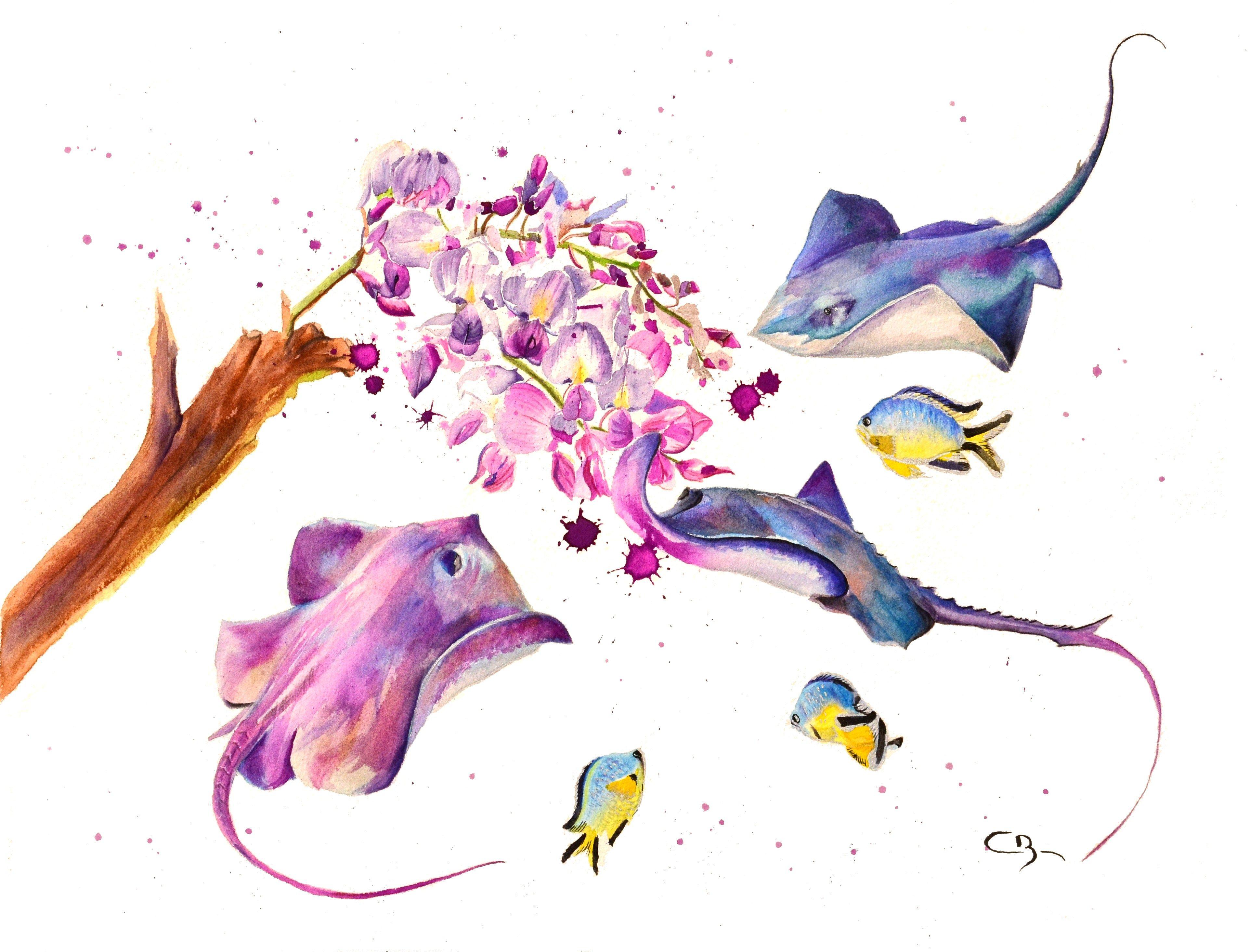 Aquarelle I Love Art Demo Art Amour Dessin Aquarelle Et