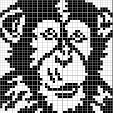 Chimpanzee x-stitch