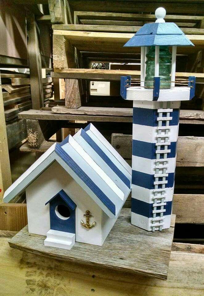 Lighthouse birdhouse #birdhousedesigns