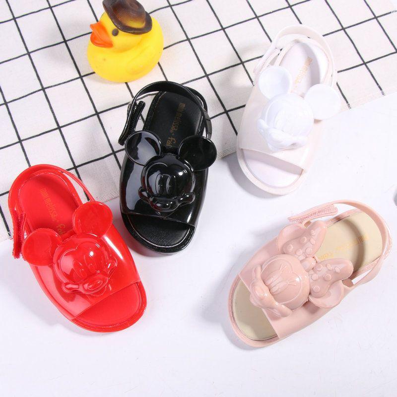 Mini Melissa 2018 Mickey Jelly Sandals Children Sandals Animal Mini Melissa a8ae2679983d