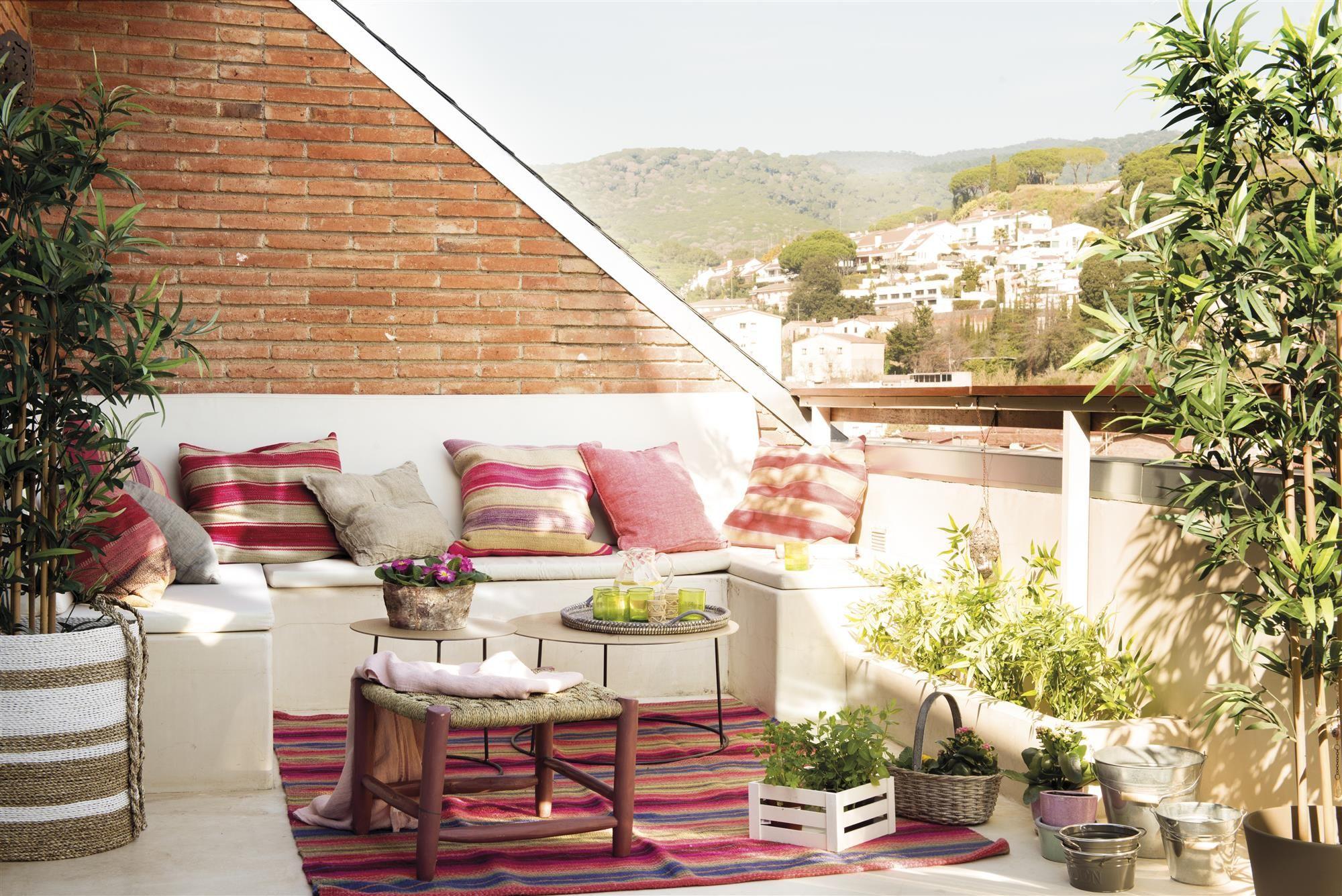 7 piezas imprescindibles para terrazas peque as terrazas for Banco para terraza