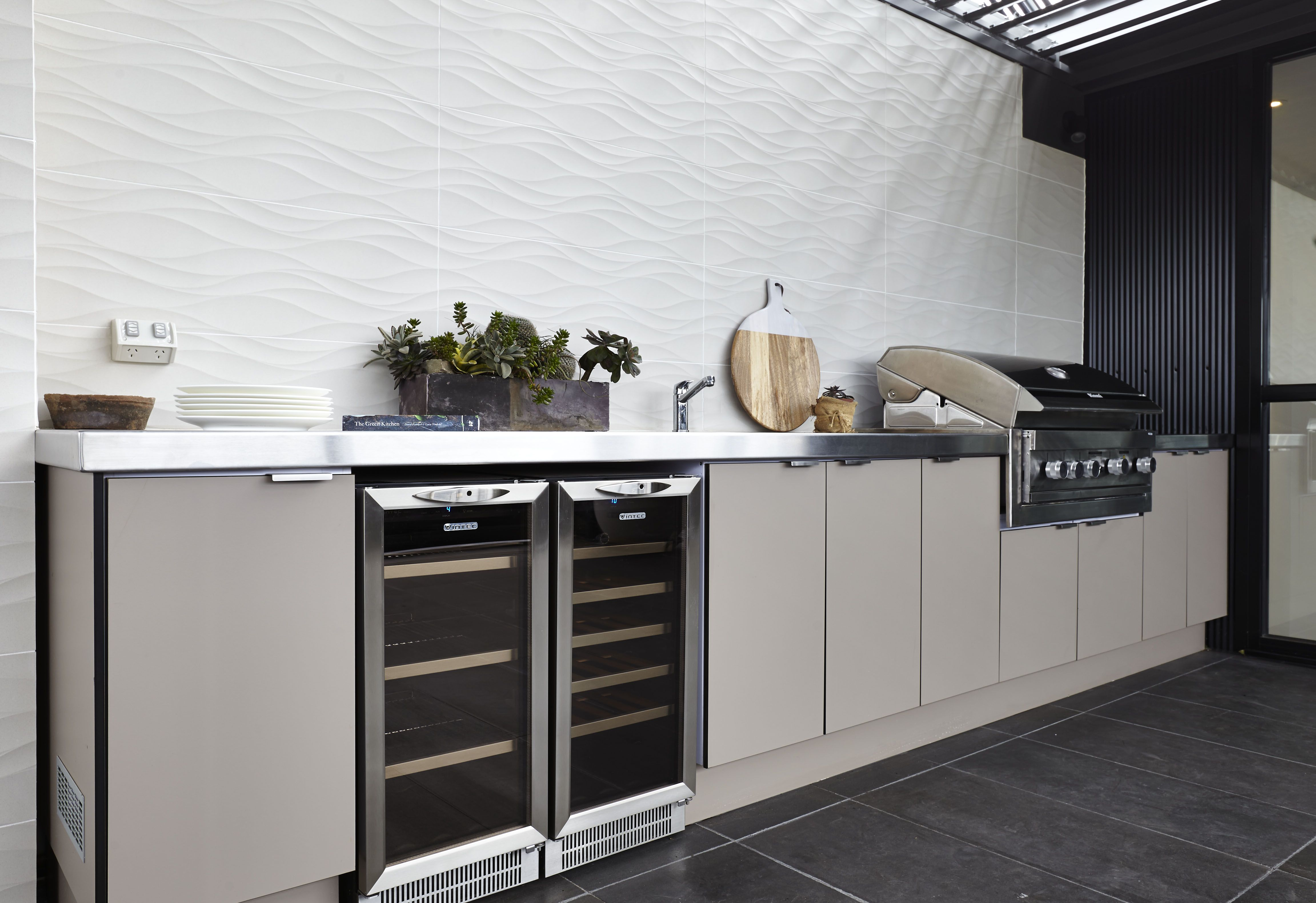 Alfresco Outdoor Kitchens Laminex Alfresco Compact Laminate In Stone Was Used For The