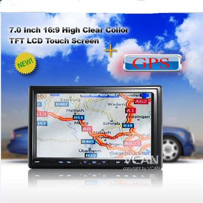 Gps 7008 7 Inch Double Din Car Dvd Player And Gps Selling Points 7 0 Touch Screen Gps Dvd With Monitor Tv Radio Amplifi Gps Car Gps Car Dvd Players