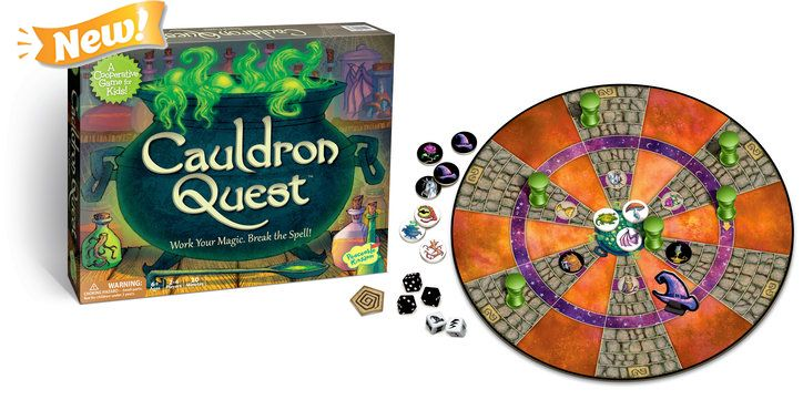 Peaceable Kingdom Cauldron Quest Award Winning Cooperative Potions and Spells Game for Kids GMC6