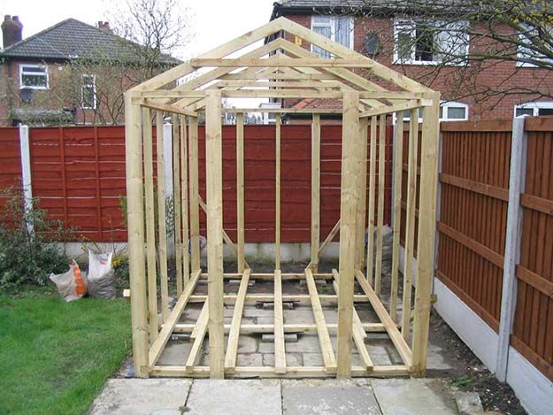 Build The Frame A Tool Shed