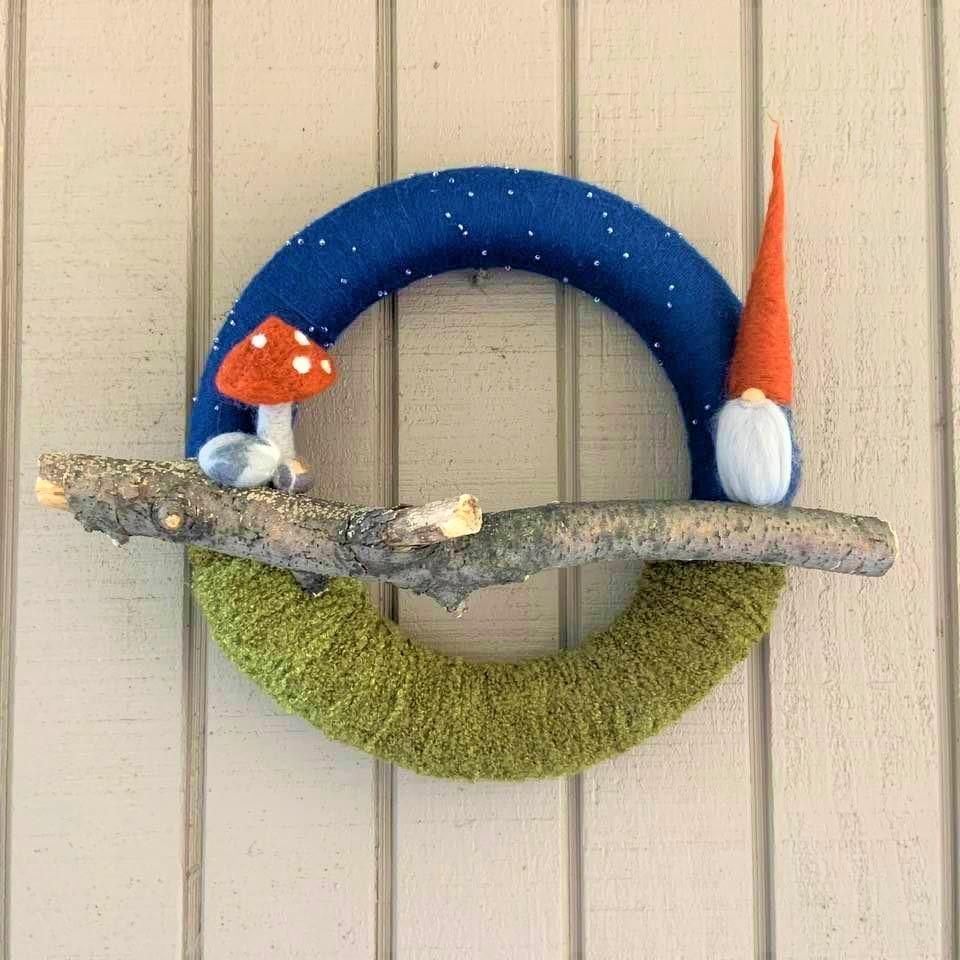 Photo of Starry Night Gnome Wreath