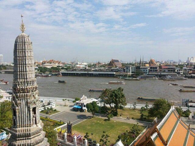 View from Wat Arun Temple, Bangkok, Thailand