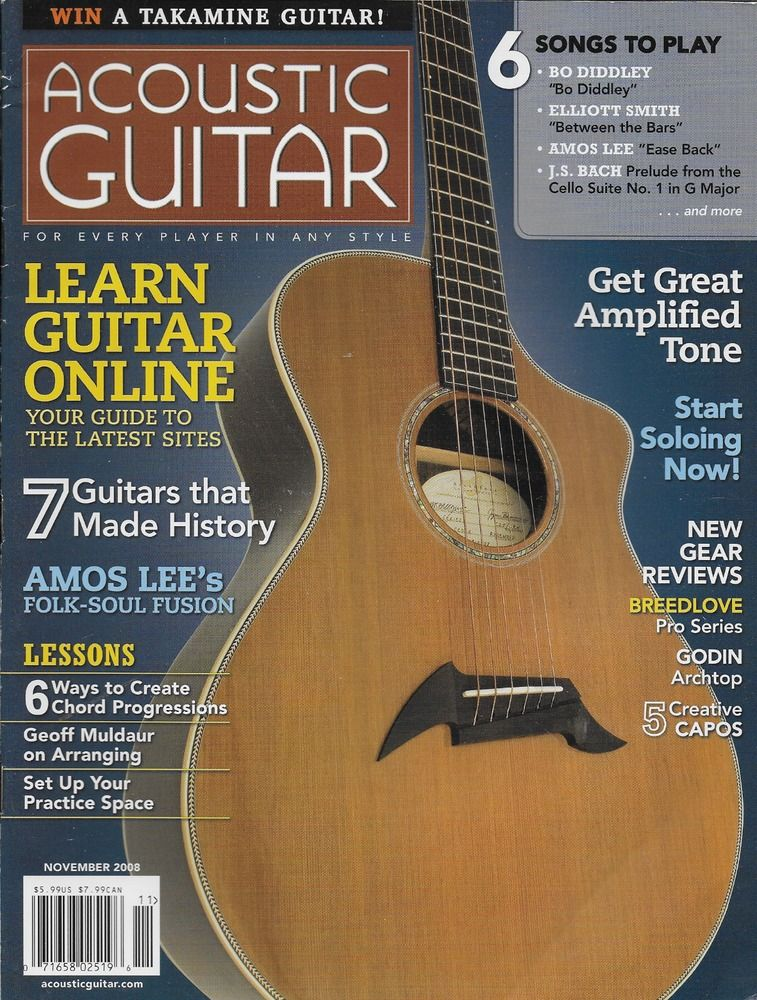 Acoustic Guitar Magazine Learn Online Amos Lee Amplified Tone Soloing Lessons Guitar Magazine Acoustic Guitar Magazine Acoustic Guitar