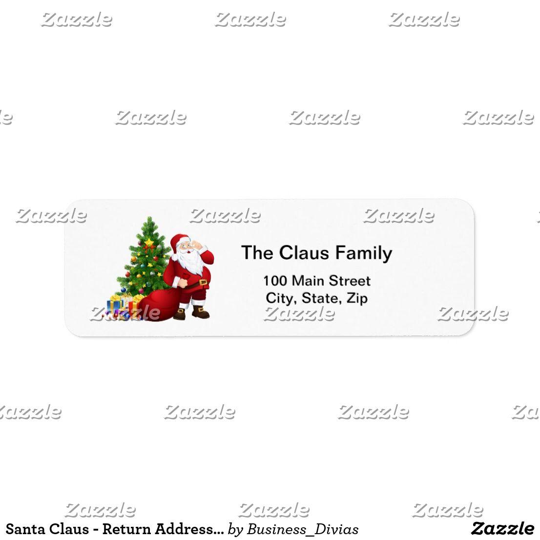 santa claus return address labels christmas pinterest