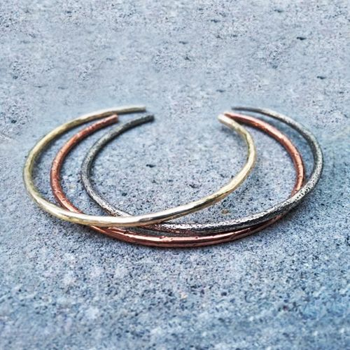 Mixed Metal Cuffs by Metal Roots