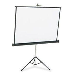 Portable Tripod Projection Screen 50 X 50 White Matte Black Steel Case By Quartet 271 27 Durable And L Projection Screen Electric Screen Projector Screen