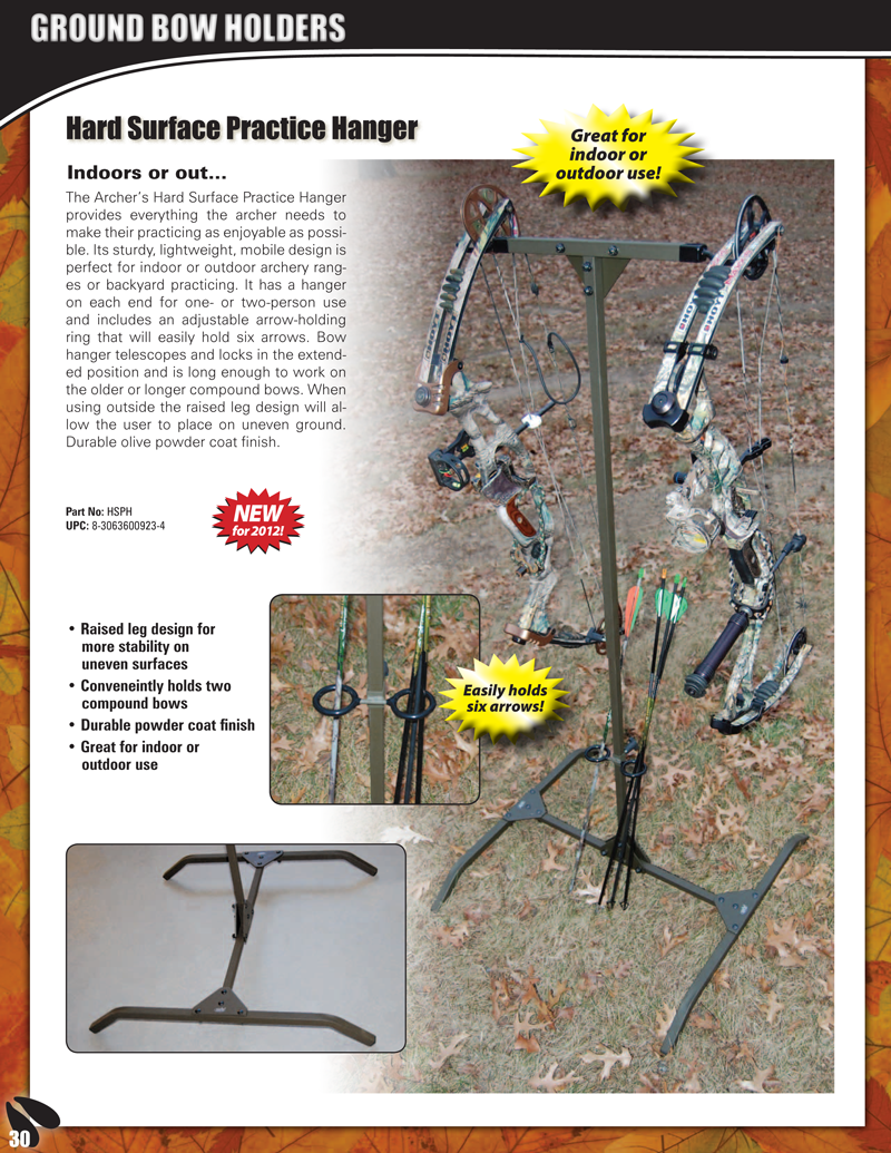Hme Products Ground Bow Holders Hunting Made Easy Double Bow Hangers With Quivers Part No Aph Upc 8 3063600505 2 34 99 8 9 Bow Hanger Bow Holder Bows