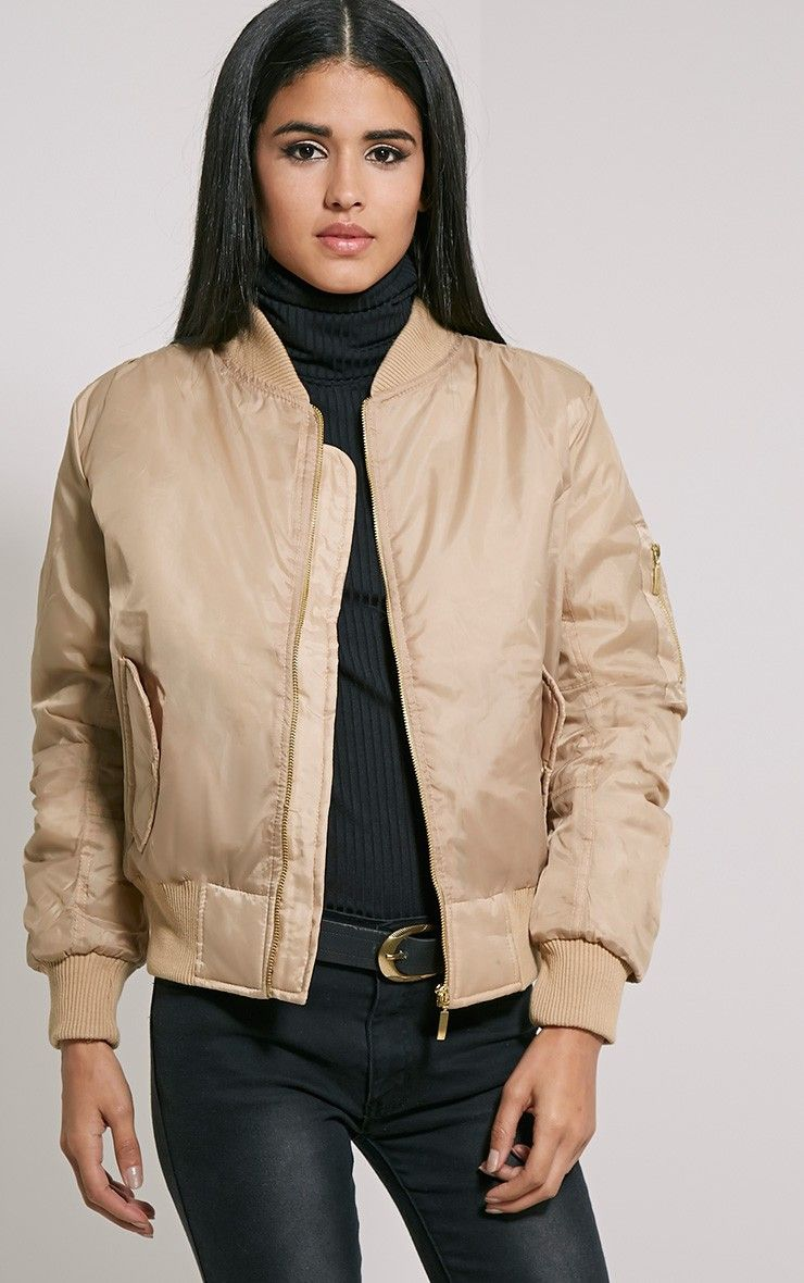 25 Beige Bomber Jacket | Wishlist | Pinterest | Jackets, Bomber ...