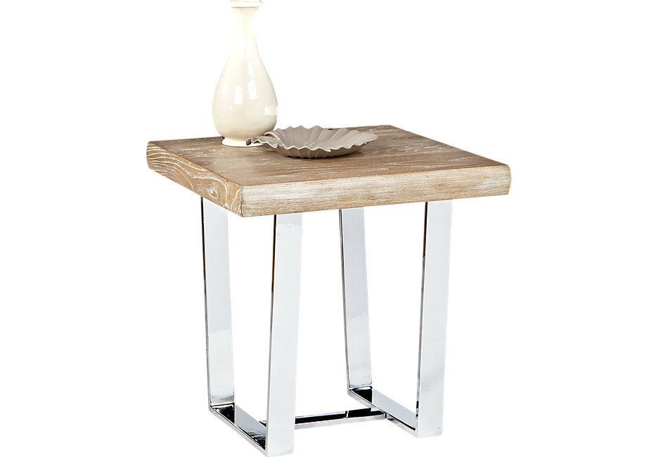 Cindy Crawford San Francisco Ash End Table End Tables Light Wood