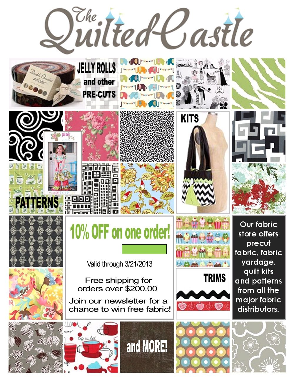 New coupon from The Quilted Castle... Save 10% on an order with ... : quilted castle - Adamdwight.com