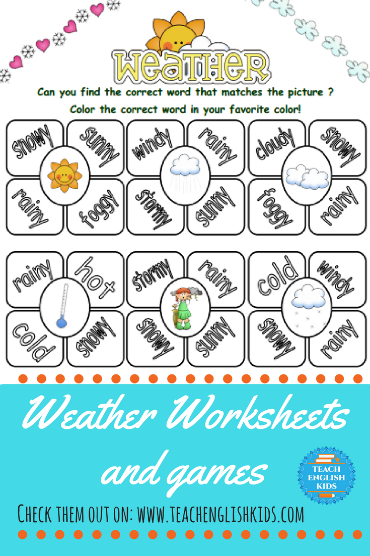 Weather Unit | Pinterest | Worksheets, Pre-school and Teacher