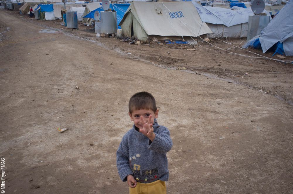 Around 50000 syrian refugees are being housed at domiz