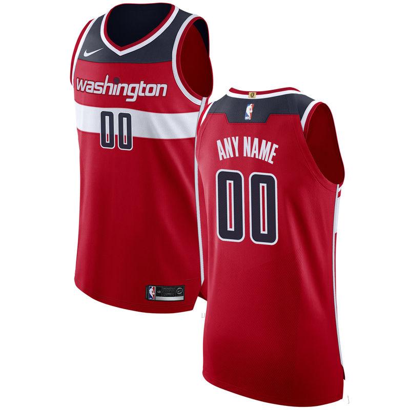6bd9ebd89b6 Washington Wizards Nike Authentic Custom Jersey Red - Icon Edition ...