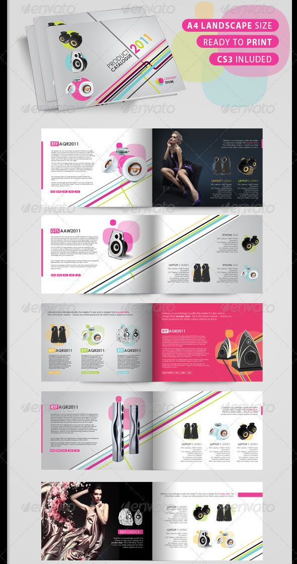 HiTech Product Catalogue  Pages  Brochure Design Templates