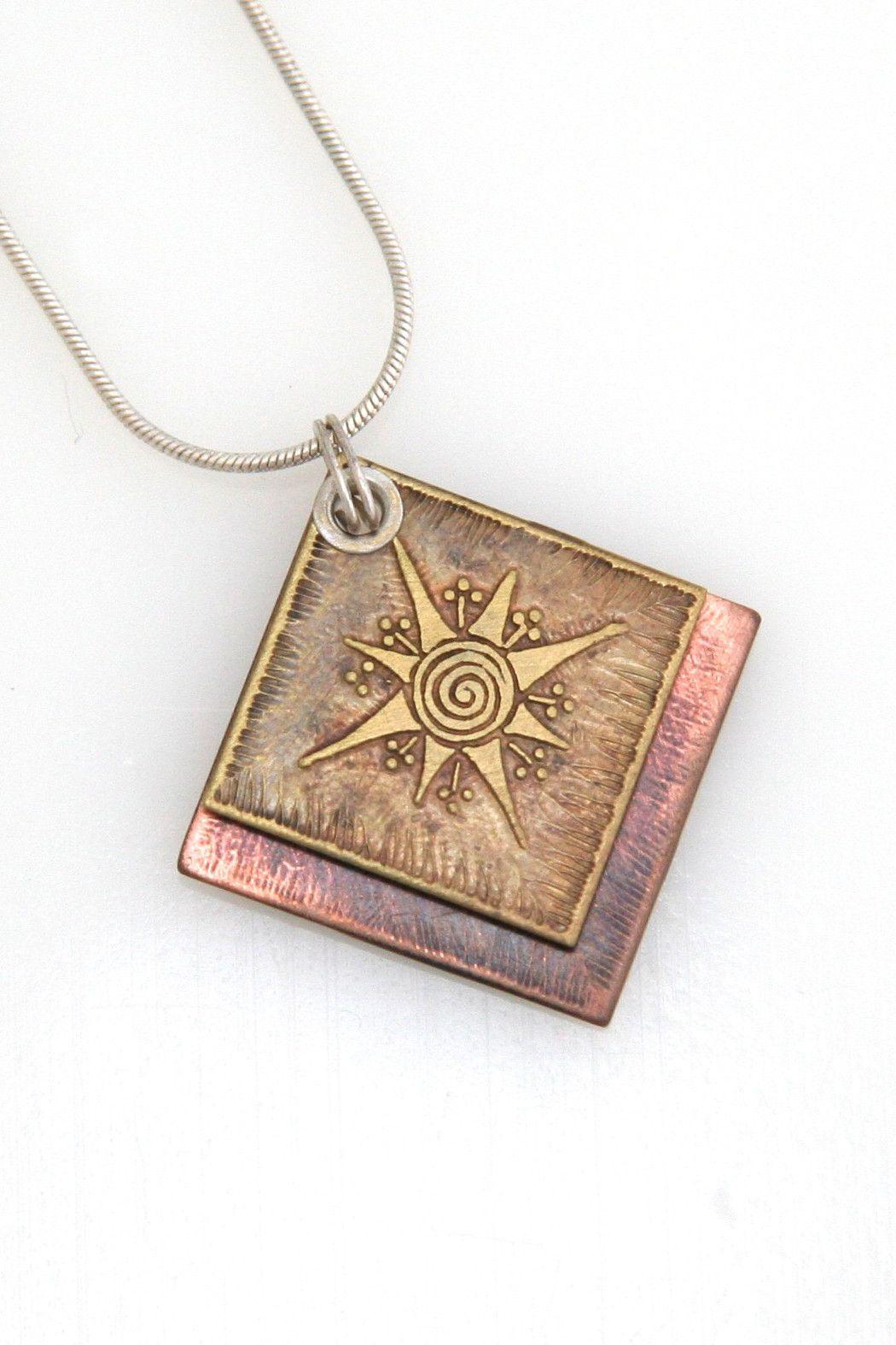 Acid-Etched Metal Necklace Star