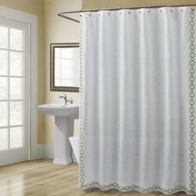 Croscill Landon 72 Inch X 72 Inch Shower Curtain In Green Stall