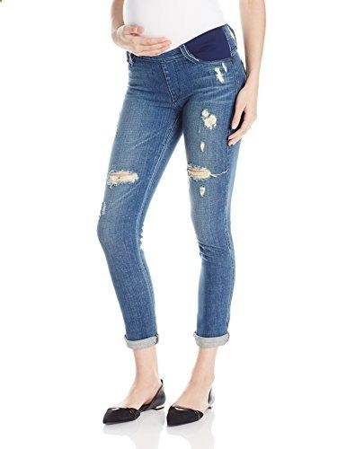 f5772f82b5803 James Jeans Women's Neo Beau Under-Belly Expansion Maternity Boyfriend Jean,  Indio, 28 Go to the website to read more description.