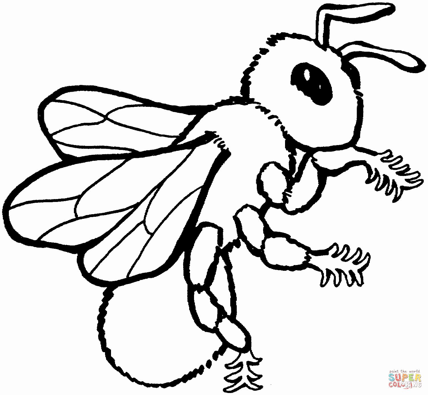 Coloring Pages Of Bees Luxury The Bee 7 Coloring Pages To View Printable Version Or Halaman Mewarnai [ 1383 x 1500 Pixel ]