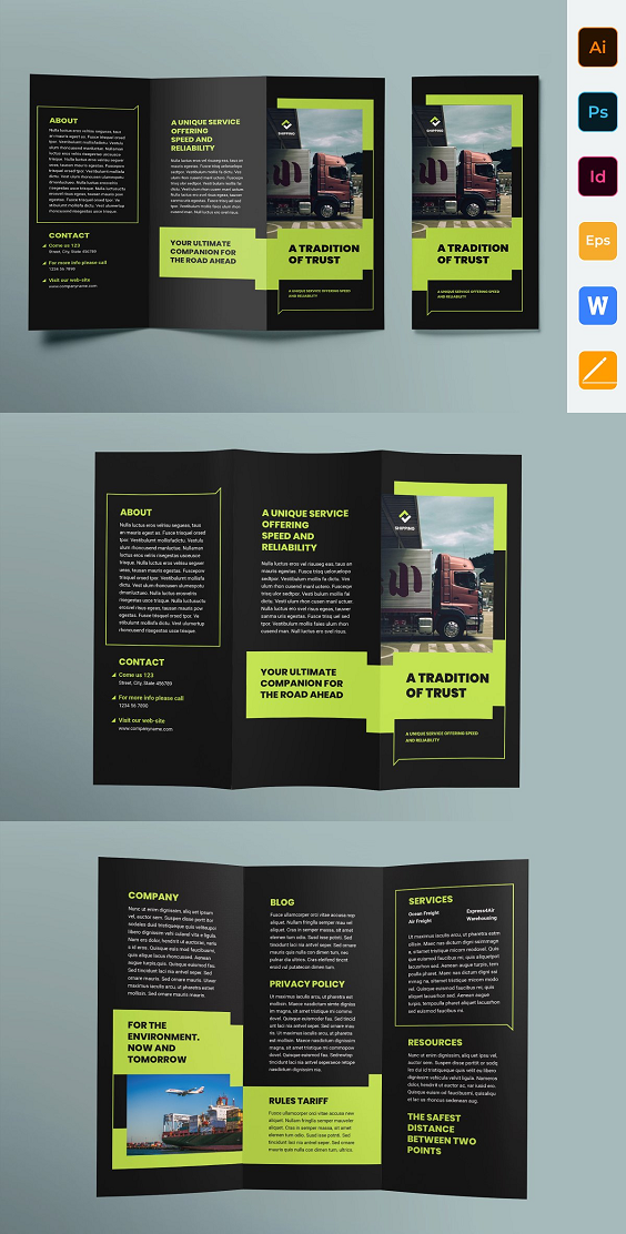 Trifold brochure template is perfect for business and corporate purposes. This p...