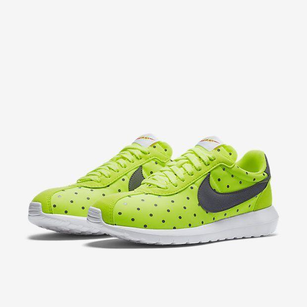Women s Shoe Nike Roshe One Print 1000 Volt White Safety Orange Cool Grey