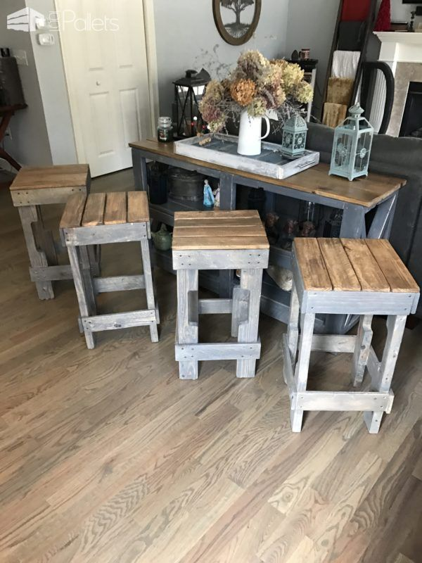 Pallet Stringer Bar Stools Look Pretty Cool Pallet