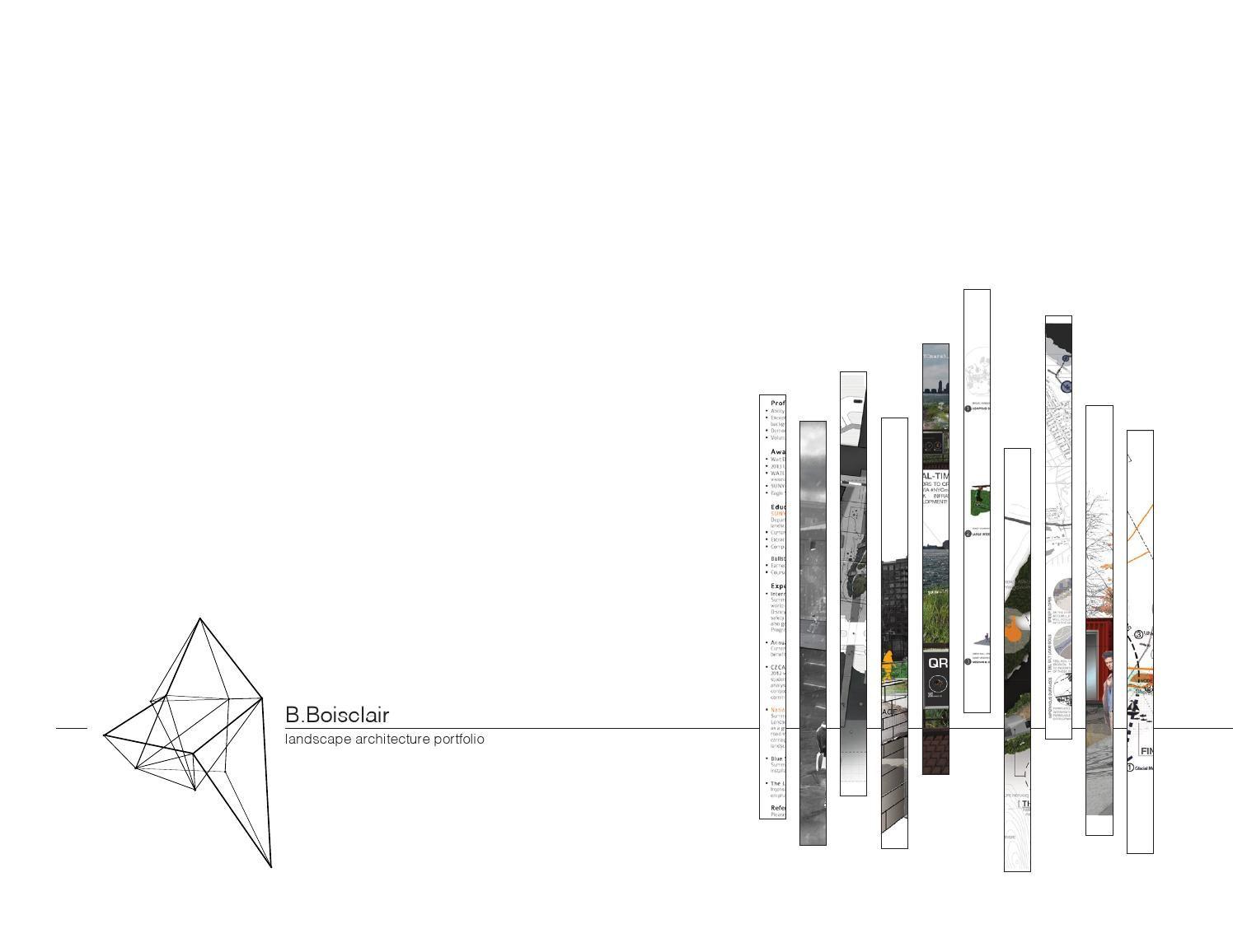 benjamin boisclair   landscape architecture