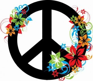 Samolepky Na Stenu Peace And Flowers 60 X 52 Cm Dekorace Cz Peace Sign Art Peace Sign Tattoos Peace Love Happiness