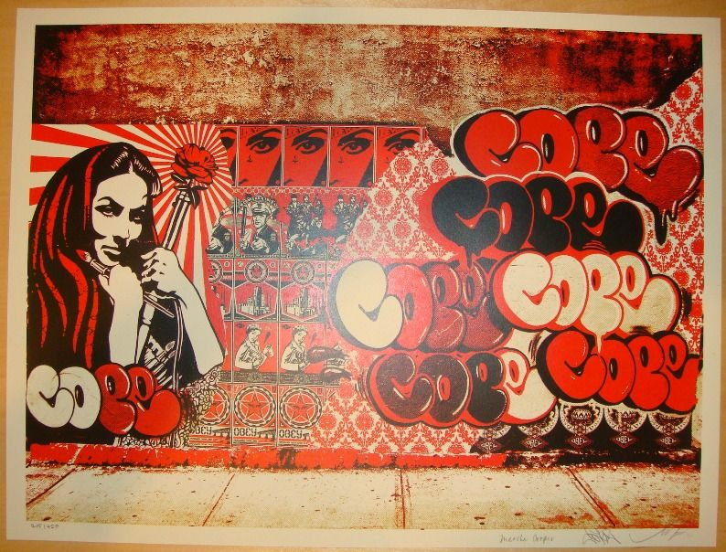 Obey x Cope Graffiti Artwork | Art | Pinterest | Graffiti artwork ...