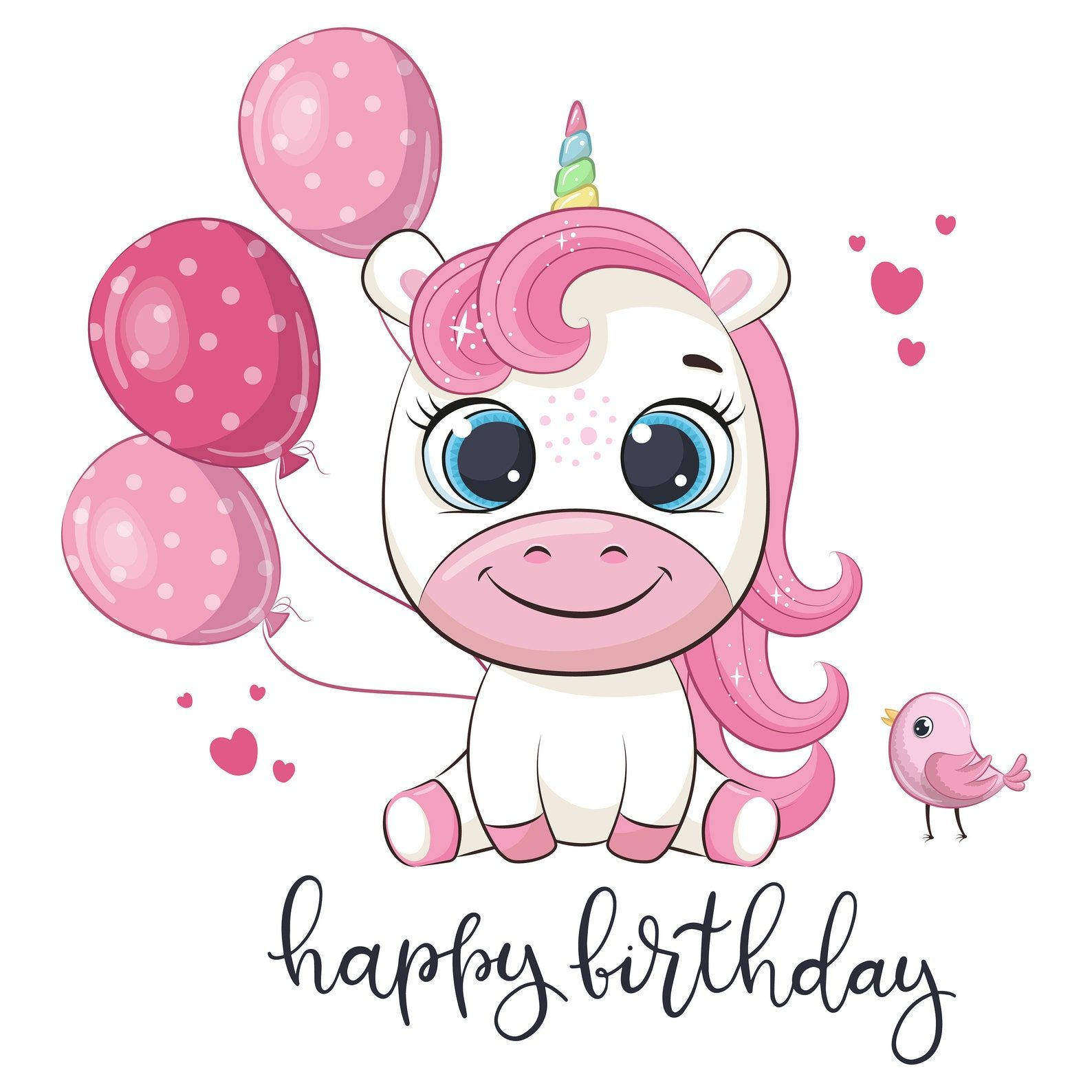 Unicorn Birthday Clipart Png Eps Girls Birthday Party Etsy Birthday Clipart Unicorn Birthday Birthday Party Clipart