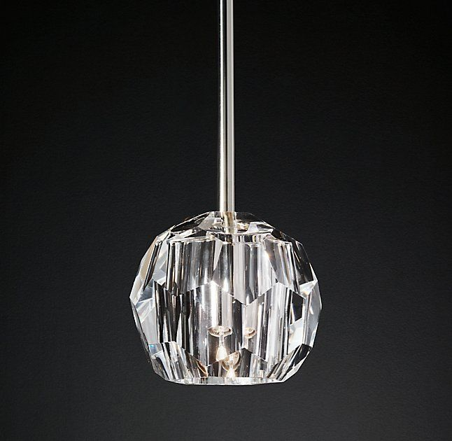 Boule De Cristal Single Rod Pendant Crystal Pendant Lighting Bathroom Pendant Pendants