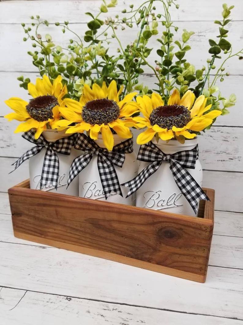 Farmhouse Spring Decor Sunflower Kitchen Etsy Home Themed