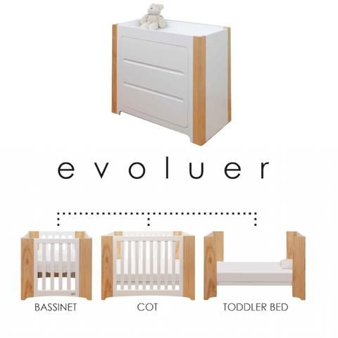 Cocoon Evoluer 4 in 1 Cot and Change Table Package | Cocoon Evoluer ...