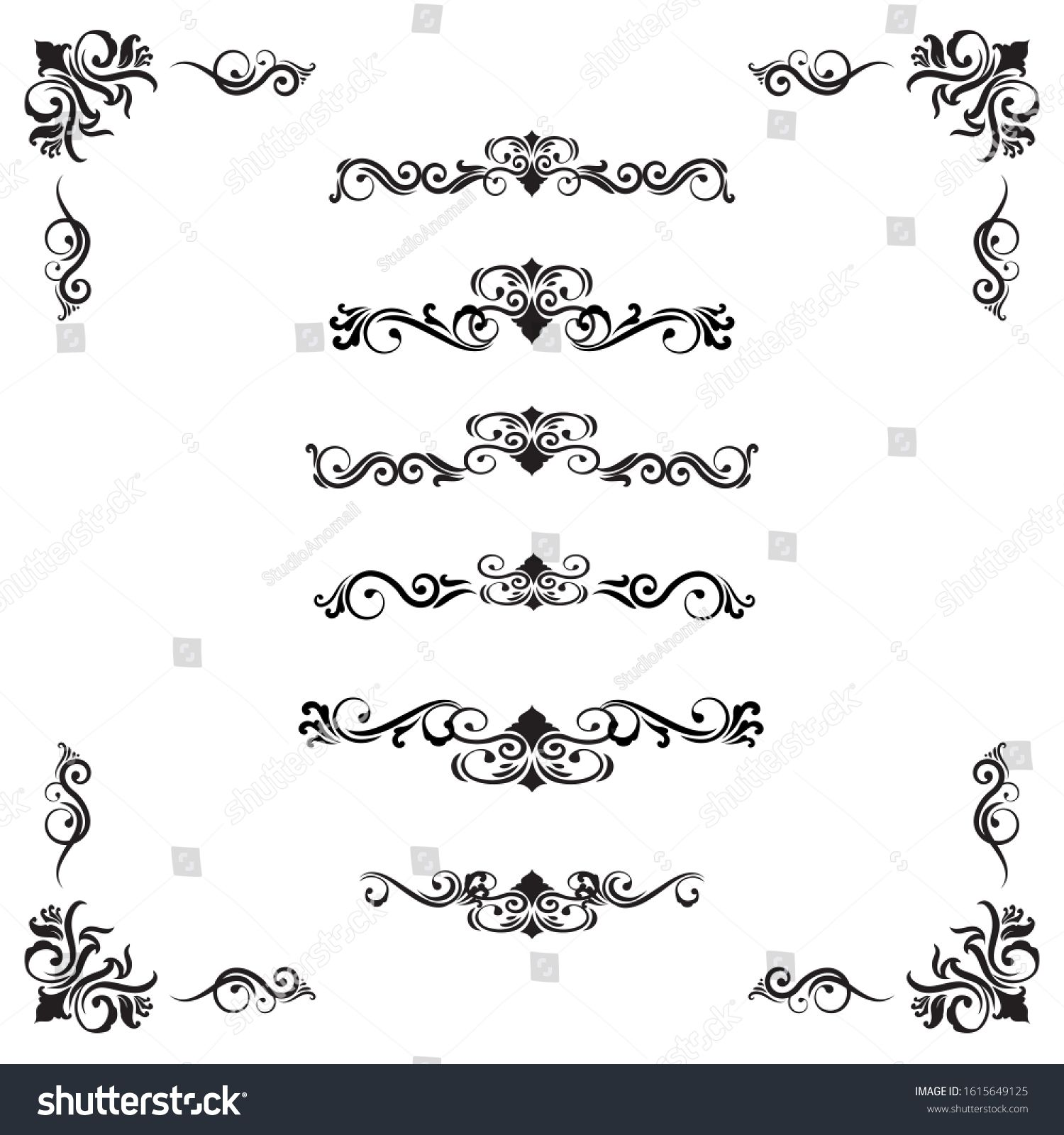 Classic Ornament Frame Vintage Border Stock Vector Royalty Free 1615649125 In 2020 Ornament Frame Vintage Borders Chinese Patterns