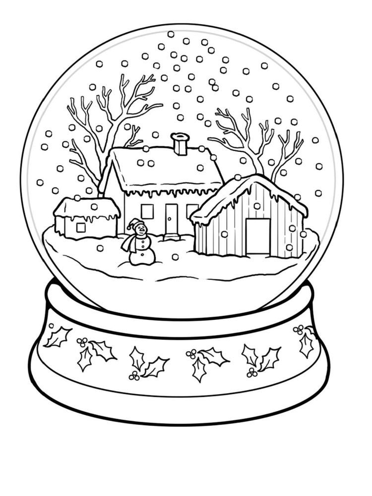 Winter Coloring Pages Printable Free Winter Is Snow It Is An Inseparable Thing Winter Is Always Awaited By Almost Everyon Buku Mewarnai Ide Menggambar Warna