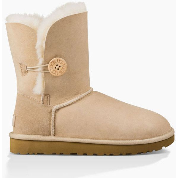 Ugg Bailey Button II Boots ($170) ❤ liked on Polyvore featuring shoes, boots, flexible shoes, button shoes, special occasion shoes, lightweight shoes and water-resistant boots