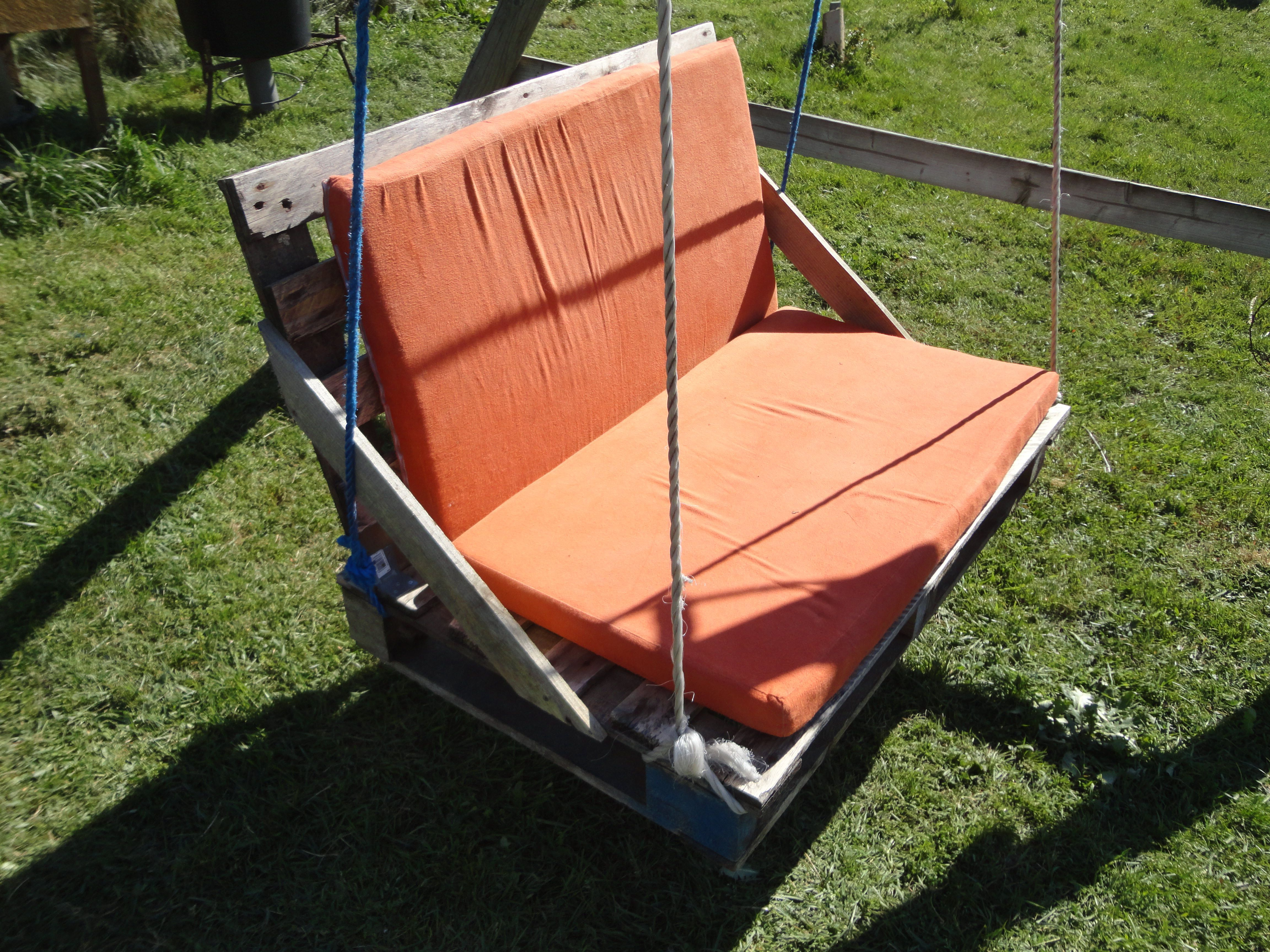 Upcycled pallet garden swing garden recycledpallet swing