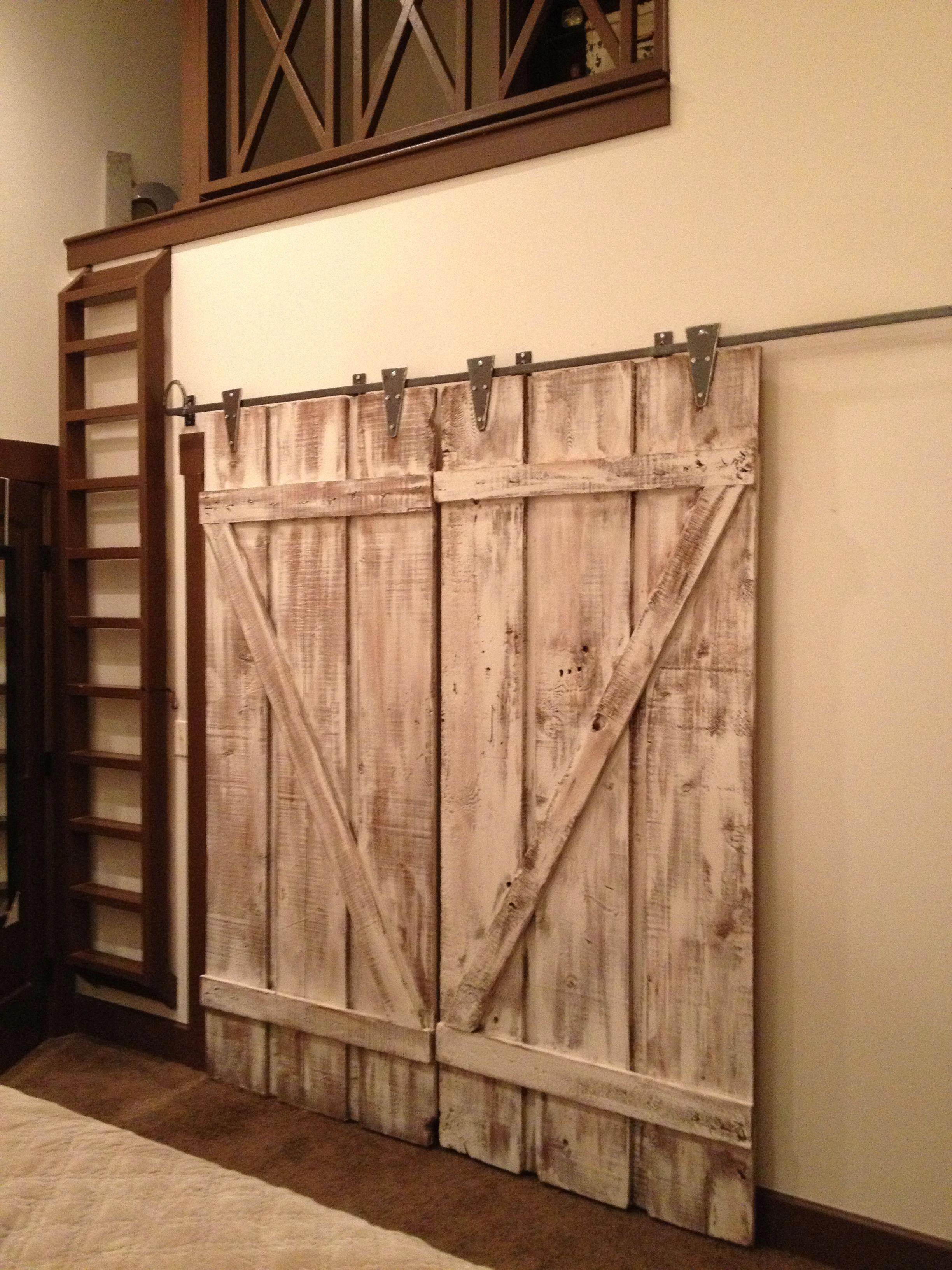Double Track Barn Door Hardware   Solid Wood Interior Barn ...